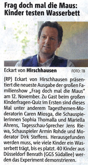 Rheinische Post, Nov. 2011